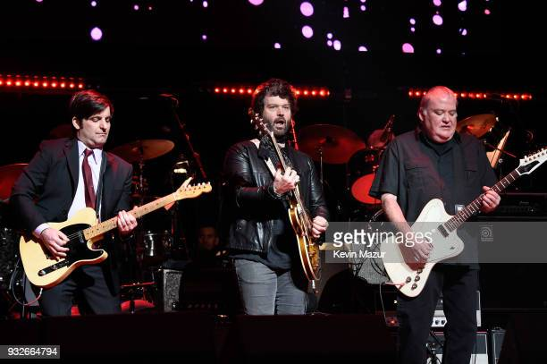 Chris Scianni Doyle Bramhall II and David Hidalgo perform onstage at the Second Annual LOVE ROCKS NYC A Benefit Concert for God's Love We Deliver at...
