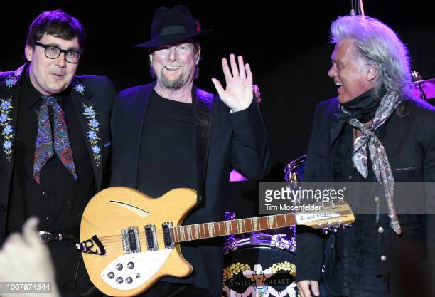 Chris Scruggs, Roger McGuinn, and Marty Stuart perform during the Sweetheart of the Rodeo Reunion at The Mountain Winery on July 29, 2018 in...