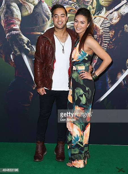 Chris Sebastian and Natasha Brasovski arrives at the Sydney Premiere of Teenage Mutant Ninja Turtles at The Entertainment Quarter on September 7 2014...