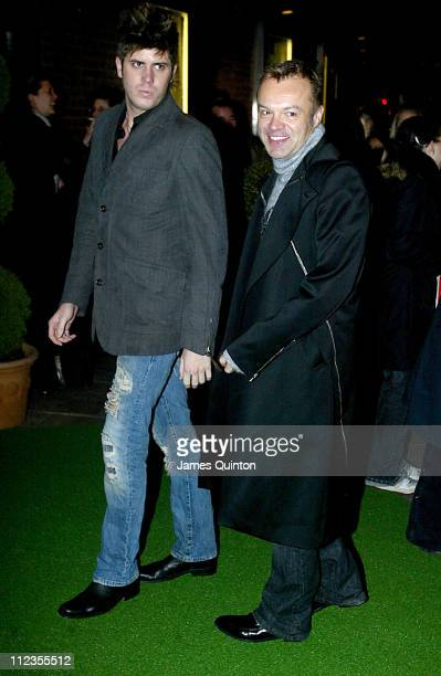 Chris Seeber and Graham Norton during Edward Scissorhands West End Premiere and Press Night Arrivals at Sadler's Wells Theatre in London Great Britain