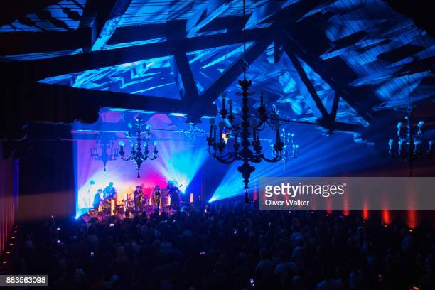 Chris Seligman Chris McCarron Patrick McGee Torquil Campbell Amy Millan and Evan Cranley of Stars perform at Hollywood Forever on November 30 2017 in...