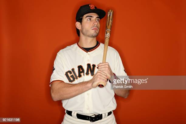 Chris Shaw of the San Francisco Giants poses on photo day during MLB Spring Training at Scottsdale Stadium on February 20 2018 in Scottsdale Arizona
