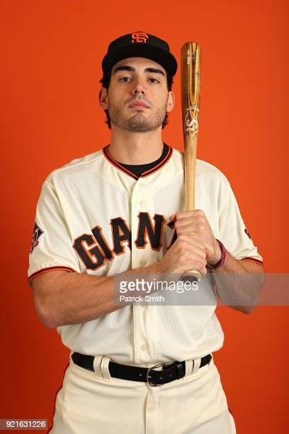 Chris Shaw of the San Francisco Giants poses on photo day during MLB Spring Training at Scottsdale Stadium on February 20 2018 in Scottsdale Arizona
