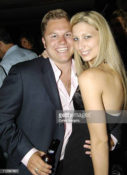Chris Shelton of The Apprentice 3 and guest during Celebrities in Town for UpFronts Attend Bunny Chow Tuesdays at Cain May 17 2005 at Cain in New...