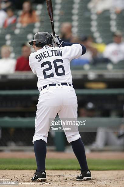 Chris Shelton of the Detroit Tigers bats against the Chicago White Sox at Comerica Park on April 12 2006 in Detroit Michigan The White Sox defeated...