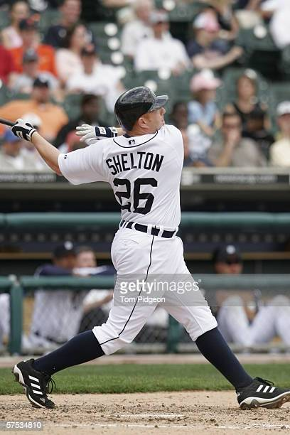 Chris Shelton of the Detroit Tigers bats against the Chicago White Sox at Comerica Park on April 13 2006 in Detroit Michigan The White Sox defeated...