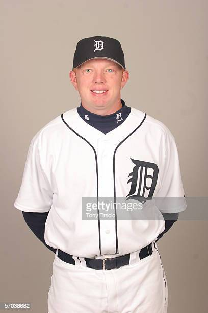 Chris Shelton of the Detroit Tigers during photo day at Marchant Stadium on February 26 2006 in Lakeland Florida