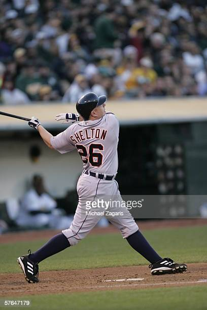 Chris Shelton of the Detroit Tigers during the game against the the Oakland Athletics at the Network Associates Coliseum in Oakland California on...