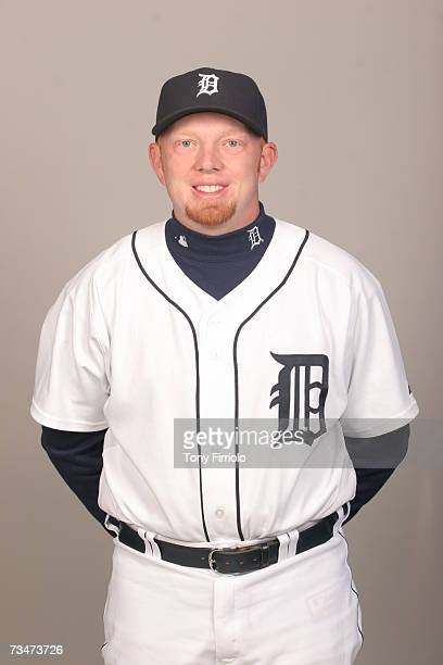 Chris Shelton of the Detroit Tigers poses during photo day at Marchant Stadium on February 24 2007 in Lakeland Florida