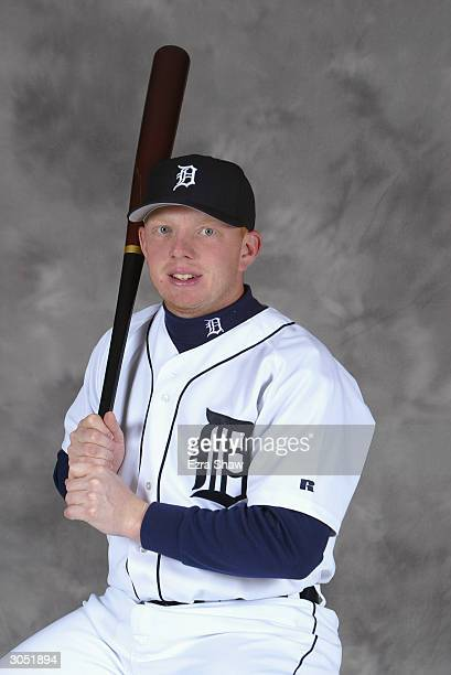Chris Shelton of the Detroit Tigers poses for portrait on February 29 2004 at the Tigers spring training complex in Lakeland Florida