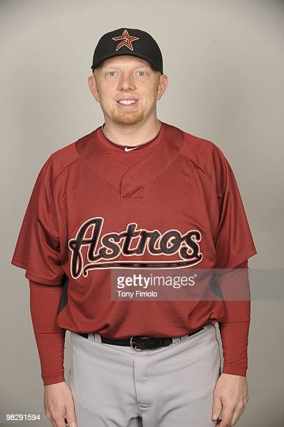 Chris Shelton of the Houston Astros poses during Photo Day on Thursday February 25 2010 at Osceola County Stadium in Kissimmee Florida