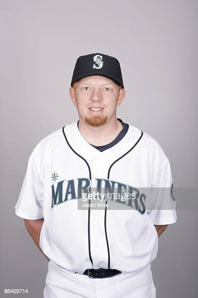 Chris Shelton of the Seattle Mariners poses during Photo Day on Friday February 20 2009 at Peoria Sports Complex in Peoria Arizona