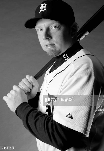 Chris Shelton poses for a portrait during the Detroit Tigers Photo Day on February 24 2007 at Joker Marchant Stadium in Lakeland Florida