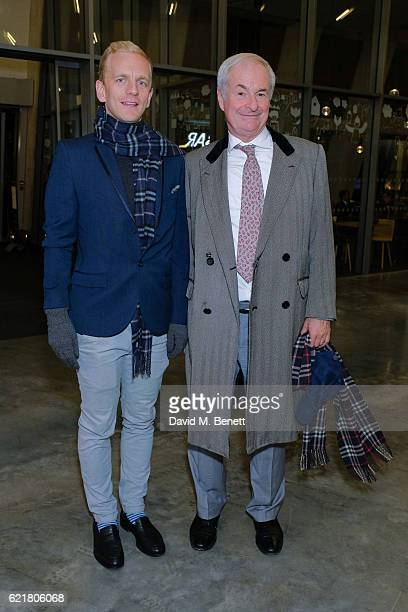"""Chris Sherwood and Paul Gambaccini arrive at the opening reception for new exhibition """"The Radical Eye: Modernist Photography From The Sir Elton John..."""
