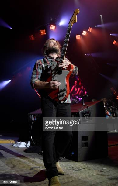 Chris Shiflett of Foo Fighters performs on stage during their 'Concrete and Gold' tour at Northwell Health at Jones Beach Theater on July 14 2018 in...