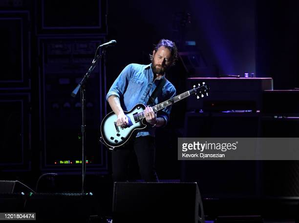 Chris Shiflett of Foo Fighters performs onstage at MusiCares Person of the Year honoring Aerosmith at West Hall at Los Angeles Convention Center on...