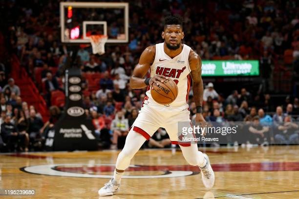 Chris Silva of the Miami Heat in action against the New York Knicks during the second half at American Airlines Arena on December 20 2019 in Miami...
