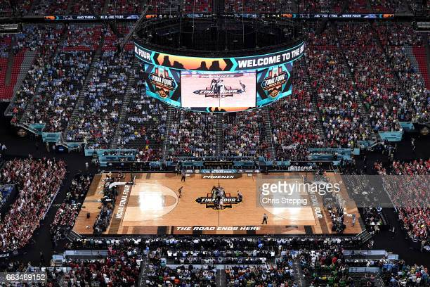 Chris Silva of the South Carolina Gamecocks versus Johnathan Williams of the Gonzaga Bulldogs tipoff during the 2017 NCAA Photos via Getty Images...