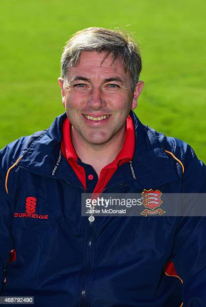 Chris Silverwood Essex assistant coach poses during an Essex CCC Photocall on April 7 2015 in Chelmsford England