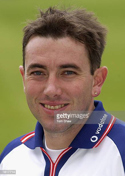 Chris Silverwood of England during the England nets session at the Bellerive Oval Hobart Australia on November 13 2002