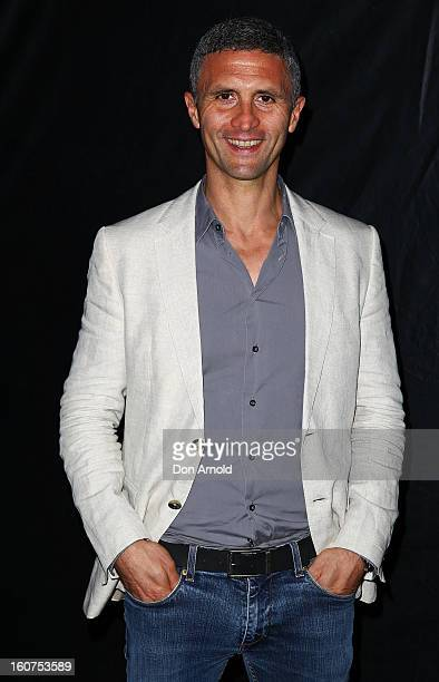 Chris Simon poses at the The Sweeney OpenAir Cinema premiere on February 5 2013 in Sydney Australia