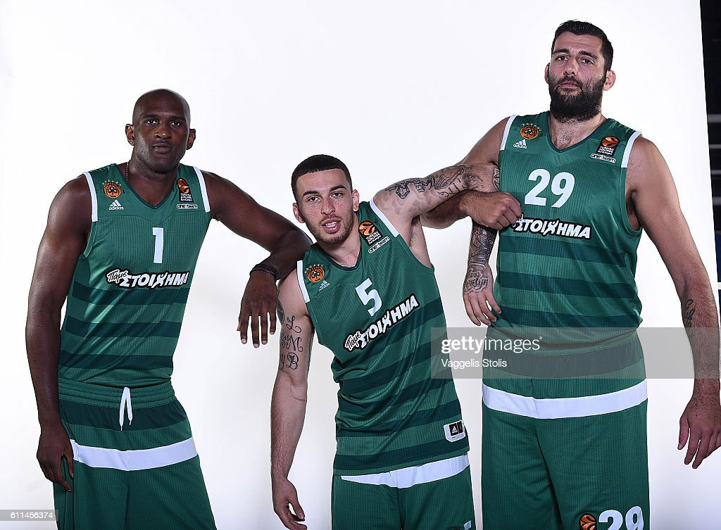 Panathinaikos Superfoods Athens 2016/2017 Turkish Airlines EuroLeague Media Day : News Photo