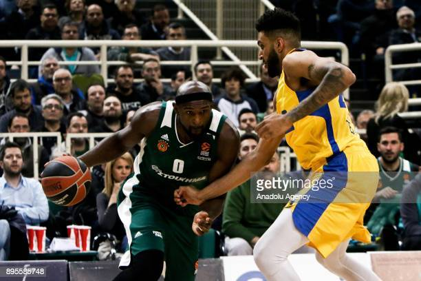 Chris Singleton of Panathinaikos Superfoods Athens in action during the Turkish Airlines Euroleague basketball match between Panathinaikos Superfoods...