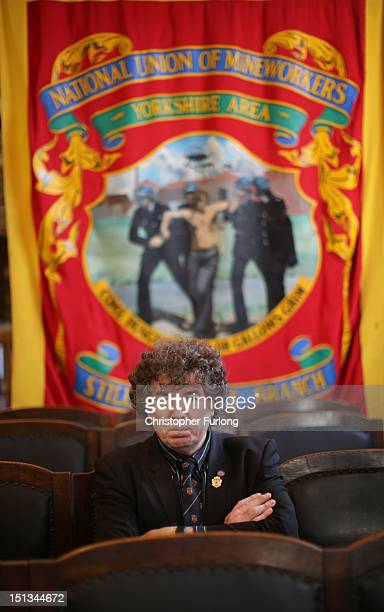 Chris Skidmore, chairman of the Yorkshire area of the NUM sits in the council chamber at the headquarters of the National Union of Miners on...