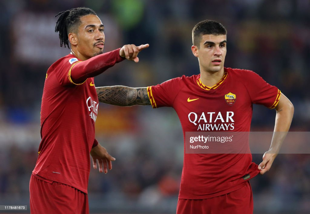 Chris Smalling and Gianluca Mancini of Roma during the Serie A match...  News Photo - Getty Images