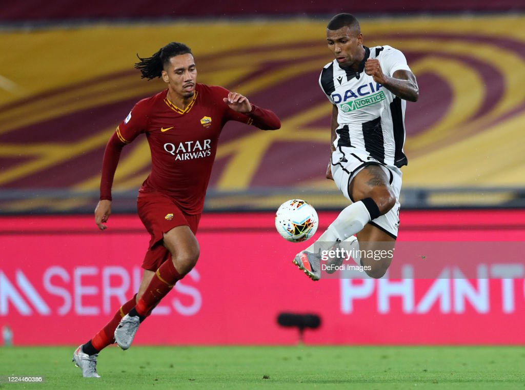 Chris Smalling Of As Roma And Walace Of Udinese Calcio Battle For The News Photo Getty Images