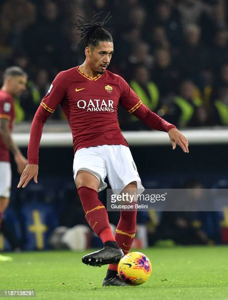Chris Smalling of AS Roma in action during the Serie A match between Parma Calcio and AS Roma at Stadio Ennio Tardini on November 10 2019 in Parma...