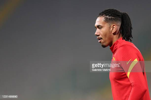 Chris Smalling of AS Roma prior to the Serie A match between ACF Fiorentina and AS Roma at Stadio Artemio Franchi on March 3, 2021 in Florence, Italy.