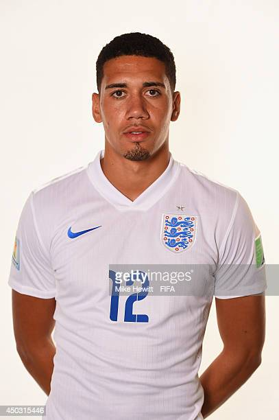 Chris Smalling of England poses during the official FIFA World Cup 2014 portrait session on June 8 2014 in Rio de Janeiro Brazil