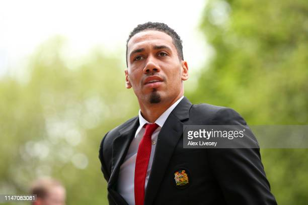 Chris Smalling of Manchester United arrives prior to the Premier League match between Huddersfield Town and Manchester United at John Smith's Stadium...
