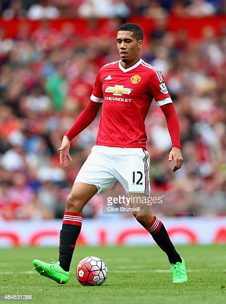 Chris Smalling of Manchester United in action during the Barclays Premier League match between Manchester United and Newcastle United at Old Trafford...
