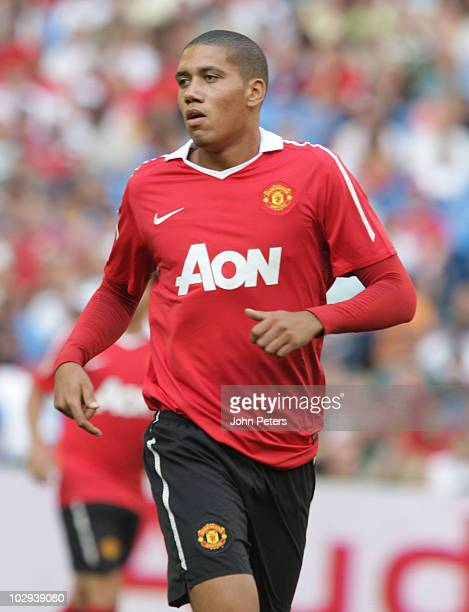 Chris Smalling of Manchester United in action during the preseason friendly match between Manchester United and Celtic at Rogers Centre on July 16...
