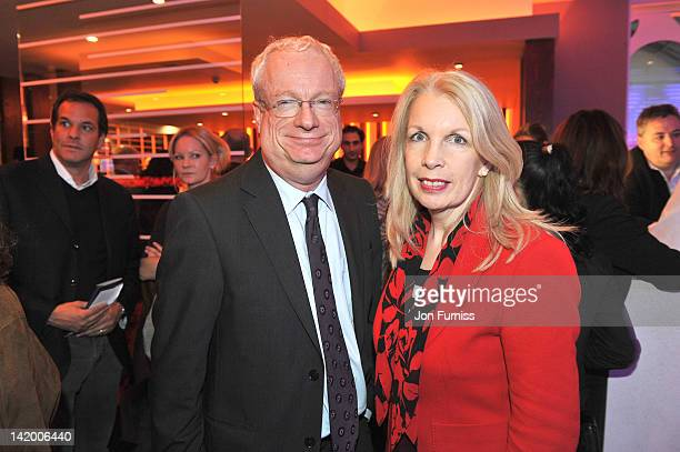 Chris Smith and Amanda Neville attend the VIP screening of 'Salmon Fishing in Yemen' at Odeon Whiteleys on March 28 2012 in London England