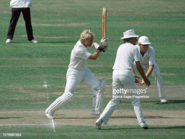Chris Smith batting for England during the 3rd Test match between England and New Zealand at Lord's Cricket Ground London 13th August 1983 The...