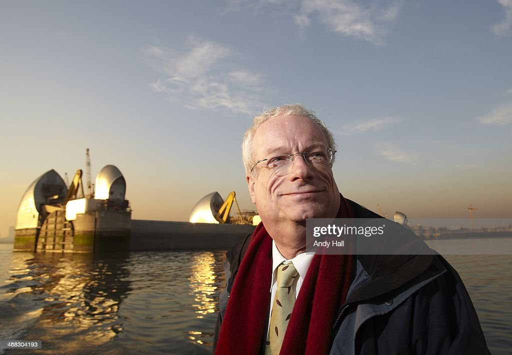 Chris Smith MP, Lord Smith of Finsbury, chairman of the Environmental Agency, poses for a portrait on the River Thames in front of the thames barrier, on November 14, 2010 in London, England.