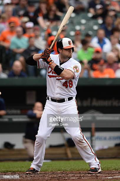 Chris Snyder of the Baltimore Orioles against the Tampa Bay Rays at Oriole Park at Camden Yards on May 19 2013 in Baltimore Maryland