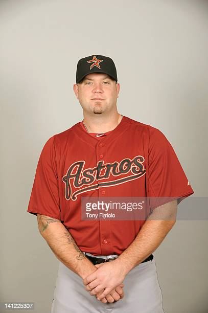 Chris Snyder of the Houston Astros poses during Photo Day on Tuesday February 28 2012 at Osceola County Stadium in Kissimmee Florida
