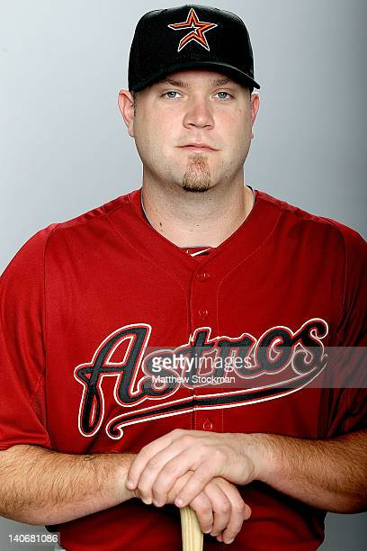 Chris Snyder of the Houston Astros poses for a portrait during photo day at Osceola County Stadium on February 28 2012 in Kissimmee Florida
