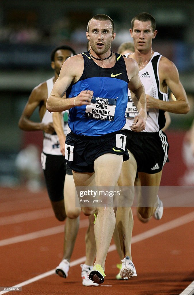 Chris Solinsky competes in the men's 5,000 meter preliminary round during day one of the U.S. Track and Field Olympic Trials at Hayward Field on June 27, 2008 in Eugene, Oregon.