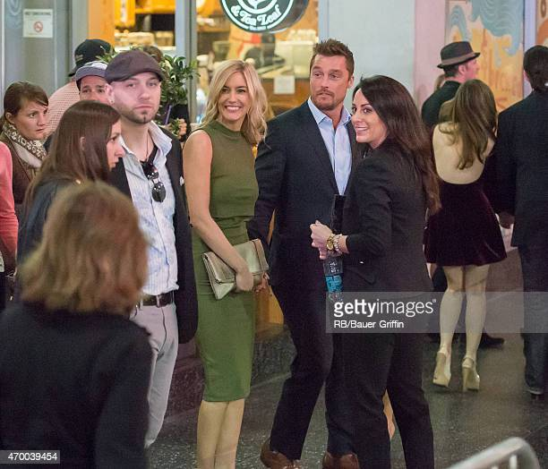Chris Soules and Whitney Bischoff are seen in Hollywood on April 16 2015 in Los Angeles California