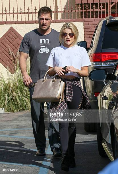 Chris Soules and Witney Carson are seen in Los Angeles on March 21 2015 in Los Angeles California