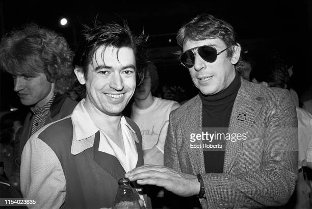 Chris Spedding and John Cale at a Pretenders party at Hurrah in New York City on May 4,1980.