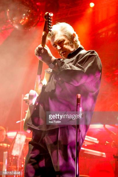 Chris Spedding performs on stage during the Brian Ferry concert at Thurn & Taxis Castle Festival 2018 on July 18, 2018 in Regensburg, Germany.