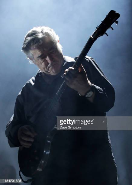 Chris Spedding performs on stage with Bryan Ferry at Spark Arena on March 7 2019 in Auckland New Zealand