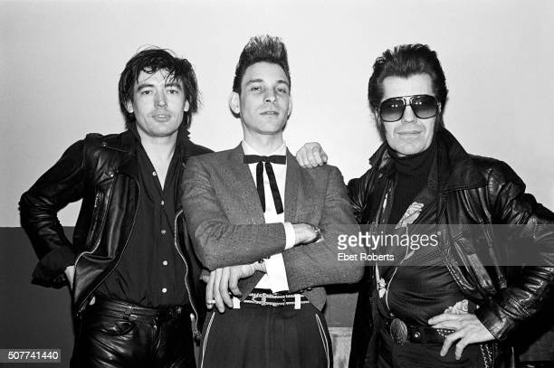 Chris Spedding, Robert Gordon and Link Wray backstage at the Lone Star in New York City on February 14, 1979.