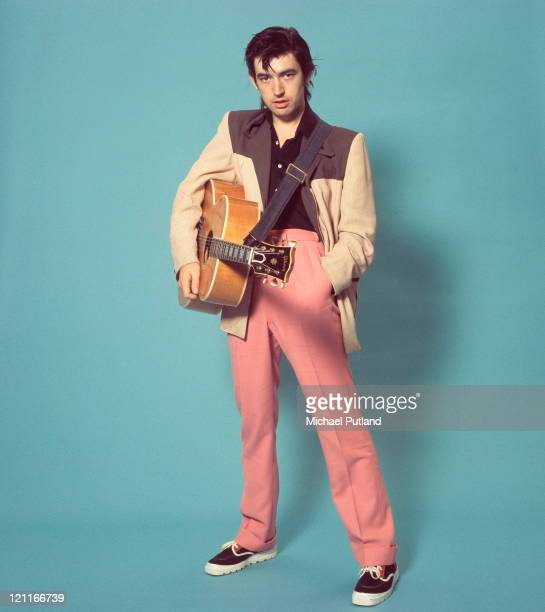 Chris Spedding, studio portrait, London, 1975.